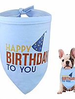 cheap -dog birthday bandana puppy scarf for small medium large pet cat kitten party gift decorations triangle neckerchief, blue