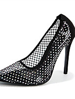 cheap -Women's Heels Stiletto Heel Pointed Toe Classic Daily Solid Colored PVC Black