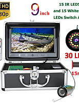 cheap -MOUNTAINONE F9AS-2L-15M 9inch Fish Finder Underwater Fishing Camera15pcs Infrared Lamp 1080P 15M Camera+15pcs White LEDs For Ice Fishing