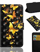 cheap -Case For Sony Sony Xperia L3 / Sony Xperia XZ2 / Xperia XA3 Wallet / Card Holder / with Stand Full Body Cases Butterfly PU Leather / TPU