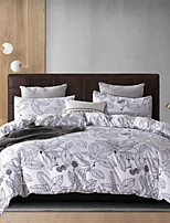 cheap -Black Line Leaf Print Botanical 3 Pieces Bedding Set Duvet Cover Set Modern Comforter Cover Ultra Soft Hypoallergenic Microfiber and Easy Care(Include 1 Duvet Cover and 1 or2 Pillowcases)