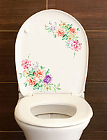 cheap -Floral / Botanical Wall Stickers Plane Wall Stickers Toilet Stickers, PVC Home Decoration Wall Decal Toilet / Fridge Decoration 1pc