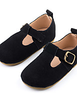 cheap -Girls' Flats Moccasin Leather Little Kids(4-7ys) Walking Shoes Camel / Black / Fuchsia Spring
