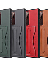 cheap -Case For Samsung Galaxy S8 S8Plus S9 S9Plus S10 S10Plus S10E S20 S20Plus S20Ultra Note 8 9 10 10Plus 20 20Ultra Card Holder Shockproof with Stand Back Cover Solid Colored PU Leather TPU