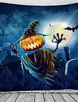 cheap -Halloween Wall Tapestry Art Decor Blanket Curtain Picnic Tablecloth Hanging Home Bedroom Living Room Dorm Decoration Psychedelic Skull Skeleton Bat Pumpkin Haunted Scary Grave Polyester