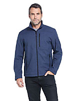 cheap -men's midweight water and wind resistant soft shell jacket navy (s-3xl)