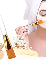 cheap -professional soft facial mask brush makeup brushes cosmetic tools for applying facial mask eye mask peel serum or diy needs& #40;golden& #41;