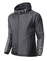 cheap -Men's Hiking Windbreaker Summer Outdoor Thermal Warm Windproof Breathable Comfortable Jacket Single Slider Climbing Traveling Outdoor Black / Grey