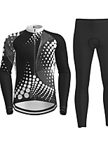 cheap -21Grams Men's Long Sleeve Cycling Jersey with Tights Black Novelty Bike Breathable Quick Dry Moisture Wicking Sports Novelty Mountain Bike MTB Road Bike Cycling Clothing Apparel / Micro-elastic