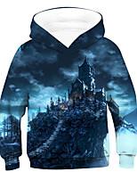 cheap -Kids Boys' Active Basic 3D Drawstring Long Sleeve Hoodie & Sweatshirt Blue