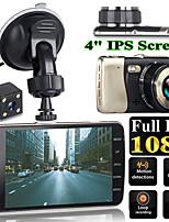 cheap -4 Inch Dual Lens Camera HD 1080P Auto DVR Voertuig Video Dash Cam Recorder G-Sensor Video Recorder HD Camera Dual Lens