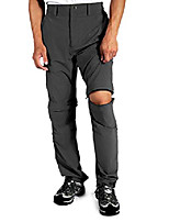 cheap -men's-convertible-hiking-pants quick-dry-lightweight-breathable outdoor-cargo-pants camping zip off with pockets dark grey