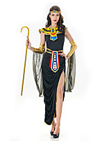 cheap -Goddess Dress Cosplay Costume Party Costume Adults' Women's Cosplay Vacation Dress Halloween Halloween Festival / Holiday Polyester Black Women's Easy Carnival Costumes / Shawl / Sleeves / Headwear
