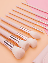 cheap -9 Pcs Girly Heart Pink Makeup Brushes with PU Bag Beauty Tools Beauty Brush Makeup Brush Set