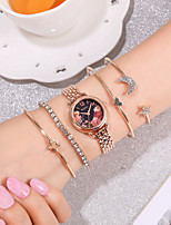 cheap -Women's Quartz Watches Quartz Stylish Floral Style Elegant Chronograph Analog Rose Gold Black Red / Stainless Steel