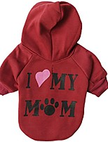 cheap -i love my mom dog hoodies, appare winter sweatshirt warm sweater, cotton jacket coat for samll dog & medium dog & cat (m, red)