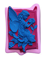 cheap -3D Angel Baby Silicone Molds Cupcake Topper Fondant Mold Baby Birthday Cake Decorating Tools Candy Clay Chocolate Gumpaste Mould