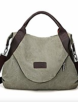 cheap -large pocket casual women's handbag shoulder cross body handbags canvas large capacity bags for women army green one size