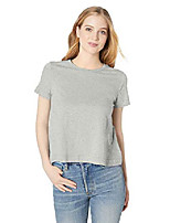 cheap -amazon brand - women& #39;s lightweight lived-in cotton short-sleeve swing t-shirt, periwinkle, x-small