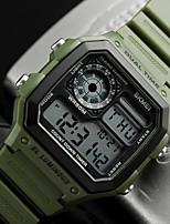cheap -mens digital watch waterproof sport watch stopwatch alarm military black watch