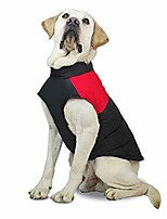 cheap -waterproof dog vest pet dog clothes windproof winter warm coat pet jacket vest s-5xl red