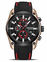 cheap -men's analogue sport chronograph luminous quartz watch with fashion silicone strap (2144 rose/black)