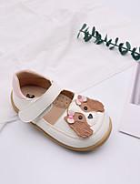 cheap -Girls' Flats Comfort PU Little Kids(4-7ys) Walking Shoes White / Pink Fall