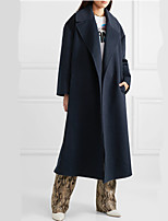 cheap -Women's Fall & Winter Coat Long Solid Colored Daily Basic Blue S M L XL