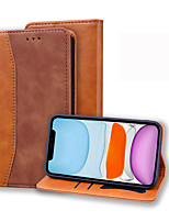 cheap -Case For iPhone 11 Card Holder Flip Full Body Cases Solid Colored PU Leather Case For iPhone 11 Pro Max / SE2020 / XS Max / XR XS 7 / 8 7 / 8 plus