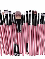 cheap -lavany 20pcs make up brushes set,long handle makeup brush set tools make-up toiletry kit wool make up brush set clearence & #40;pink& #41;