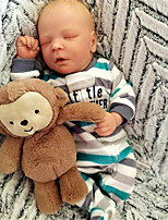 cheap -17.5 inch Reborn Doll Baby & Toddler Toy Baby Boy Reborn Baby Doll Saskia Newborn lifelike Hand Made Simulation Floppy Head Cloth Silicone Vinyl with Clothes and Accessories for Girls' Birthday and
