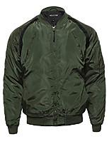 cheap -classic basic style zip up long sleeves bomber jacket white l