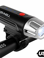cheap -usb rechargeable bike headlight-super bright led front bicycle light with battery indicator, long runtime, ipx5 water resistant for cycling safety flashlight (black)