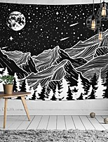 cheap -Wall Tapestry Art Decor Blanket Curtain Picnic Tablecloth Hanging Home Bedroom Living Room Dorm Decoration Polyster Moon Meteor Snow Mountain Tree View