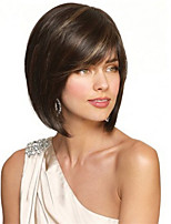 cheap -Synthetic Wig Curly Asymmetrical With Bangs Wig Short Light Brown Synthetic Hair Women's Fashionable Design Classic Color Gradient Light Brown