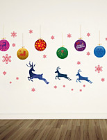 cheap -WallDecals Decor Vinyl DIY Christmas Elk Wall Stickers Removable Waterproof Wallpaper Decals Art Easy Peel & Stick