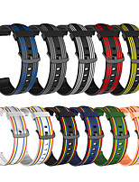 cheap -Stripe Watch Band for Apple Watch Series 6 / SE / 5/4 / Apple Watch Series 3/2/1 Apple Modern Buckle Silicone Wrist Strap