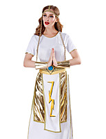 cheap -Goddess Dress Cosplay Costume Outfits Party Costume Adults' Women's Cosplay Vacation Dress Halloween Halloween Festival / Holiday Polyester White Women's Easy Carnival Costumes / Apron / Headwear