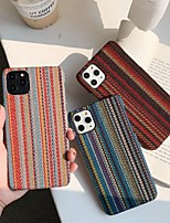 cheap -Case For Apple iPhone 7 8 7plus 8plus X XR XS XSMax SE(2020) iPhone 11 11Pro 11ProMax Shockproof Ultra-thin Pattern Back Cover Geometric Pattern Textile TPU