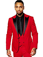 cheap -The Great Gatsby Retro Vintage Medieval Coat Pants Outfits Vest Men's Costume White / Red Vintage Cosplay Party Halloween Long Sleeve