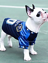 cheap -Dog Shirt / T-Shirt Jersey Vest Football T-Shirt National Team Sports & Outdoors Casual / Daily National Soccer World Cup Dog Clothes Breathable White / Red Red Blue Costume Polyster S M L XL XXL