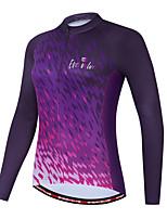 cheap -Women's Long Sleeve Cycling Jersey Purple Bike Quick Dry Sports Geometic Clothing Apparel / Micro-elastic