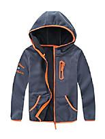 cheap -boys soft cozy full zip polar fleece hoodie jackets 10/12 light gray