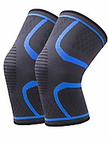 cheap -2 pack compression knee braces for knee pain, knee sleeves for men & women, knee support for workout, basketball, running, gym and protector for meniscus tear (large, blue)