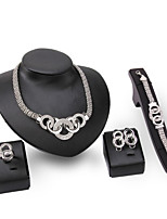 cheap -Women's Synthetic Diamond Bridal Jewelry Sets Simple Basic Elegant Earrings Jewelry Silver For Wedding Engagement 1 set