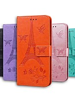 cheap -Case For Samsung Galaxy S20 S20 Plus Galaxy S20 Ultra Wallet Card Holder with Stand Butterfly Solid Colored Eiffel Tower PU Leather TPU for Galaxy A21s Galaxy A31 Galaxy A41 Galaxy A71 5G