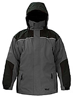 cheap -viking tempest classic waterproof and windproof all weather shell jacket with reflective piping, charcoal/black, x-large
