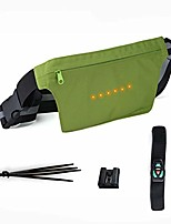 cheap -bicycle strap-on bike saddle bag/bicycle seat pack bag,led light turn bag cycling under seat wedge rear saddle pack frame front accessories (green, waist pack)