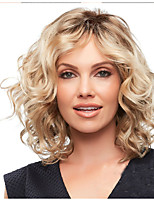 cheap -Synthetic Wig Bouncy Curl Middle Part Wig Short Long Light golden Synthetic Hair 65 inch Women's Color Gradient Highlighted / Balayage Hair Middle Part Blonde