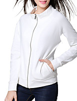 cheap -Women's Coat Front Zipper Shirt Collar Cotton Solid Color Heart Sport Athleisure Top Long Sleeve Warm Soft Comfortable Everyday Use Daily Casual